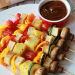 Vegetable Skewers – Recipe Vegetarian Kebabs