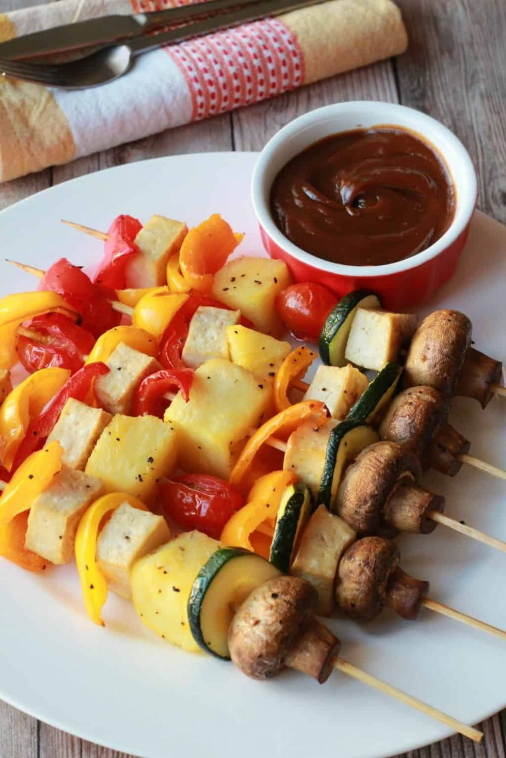 Vegetable Skewers - Recipe Vegetarian Kebabs