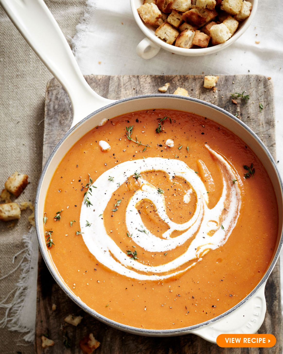 Vegetable Soup with Croutons - Le Creuset Recipes - Soup Recipes South Africa