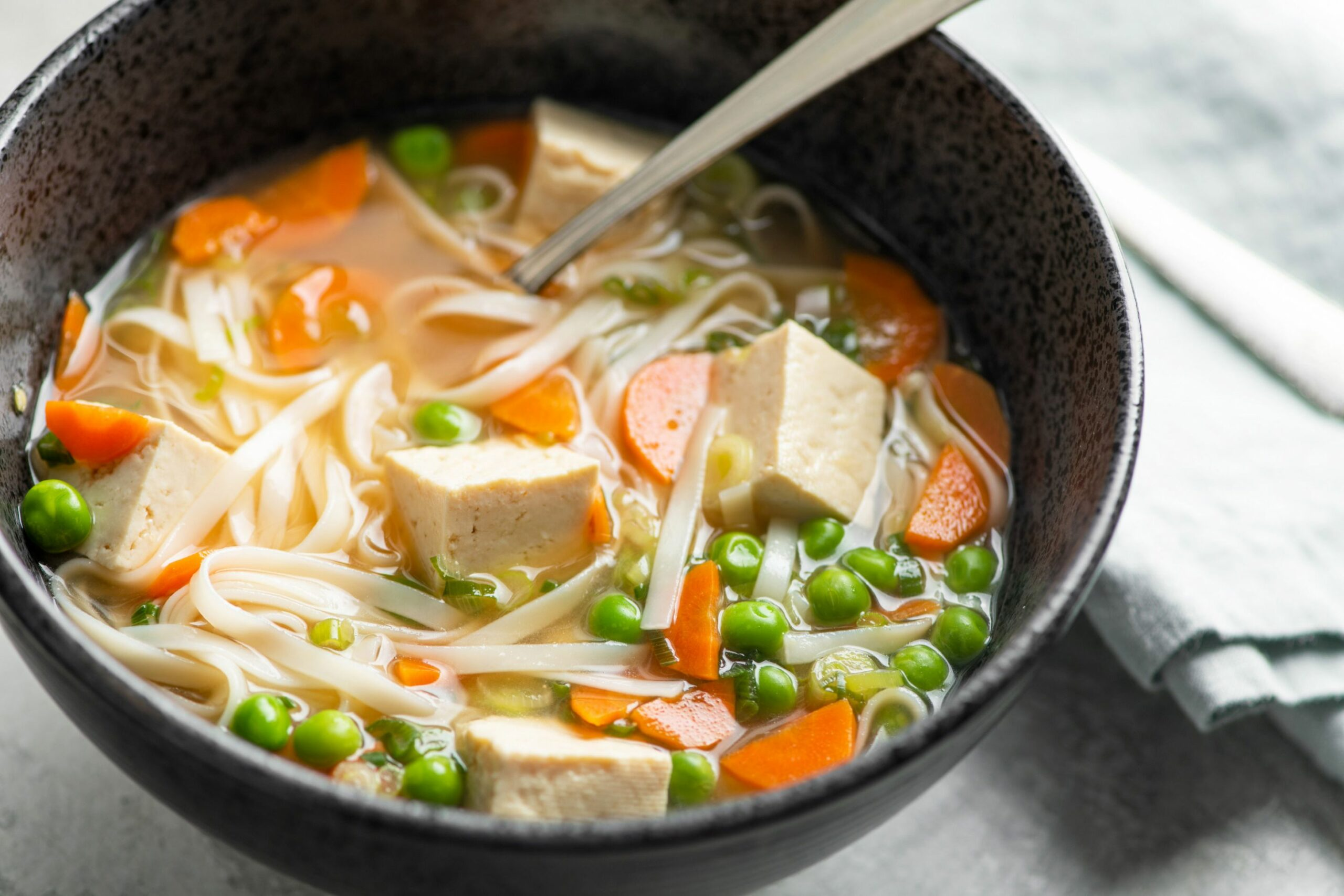 Vegetable Udon Noodle Soup - Recipe Vegetarian Udon Noodle Soup