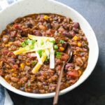 Vegetarian Chili (All Of Our Best Secrets!) — A Couple Cooks – Recipes Vegetable Chili