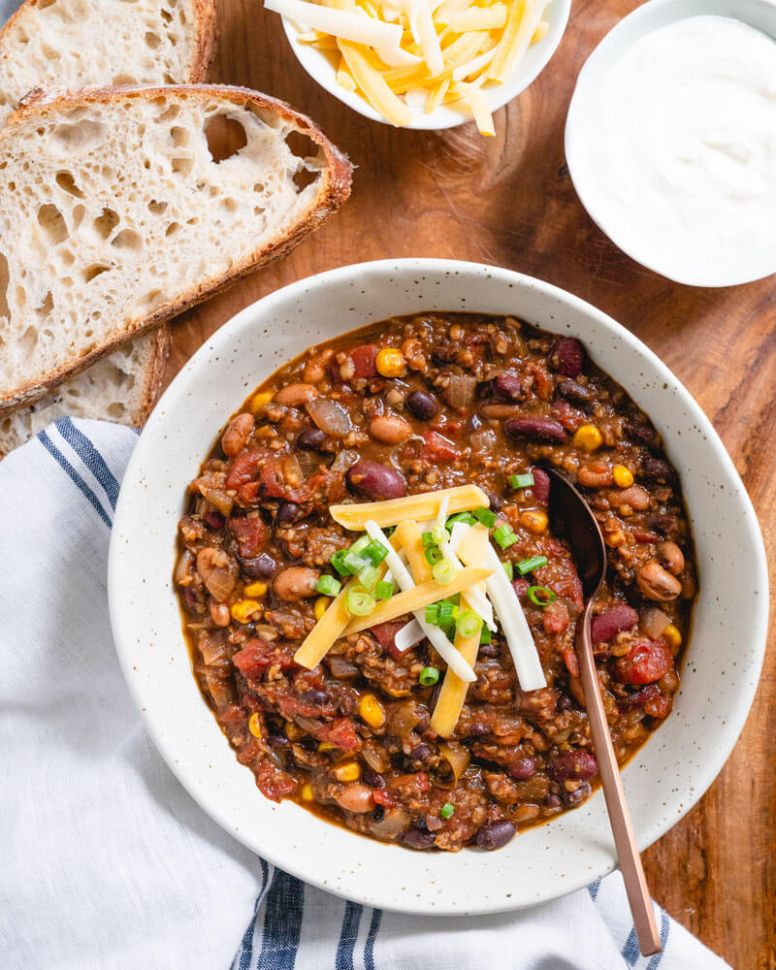 Vegetarian Chili (All of Our Best Secrets!) - Recipes Vegetarian Chili