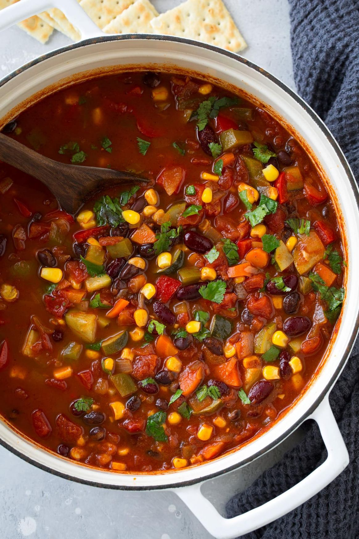 Vegetarian Chili (Healthy and Packed with Flavor!) - Cooking Classy - Recipes Vegetable Chilli