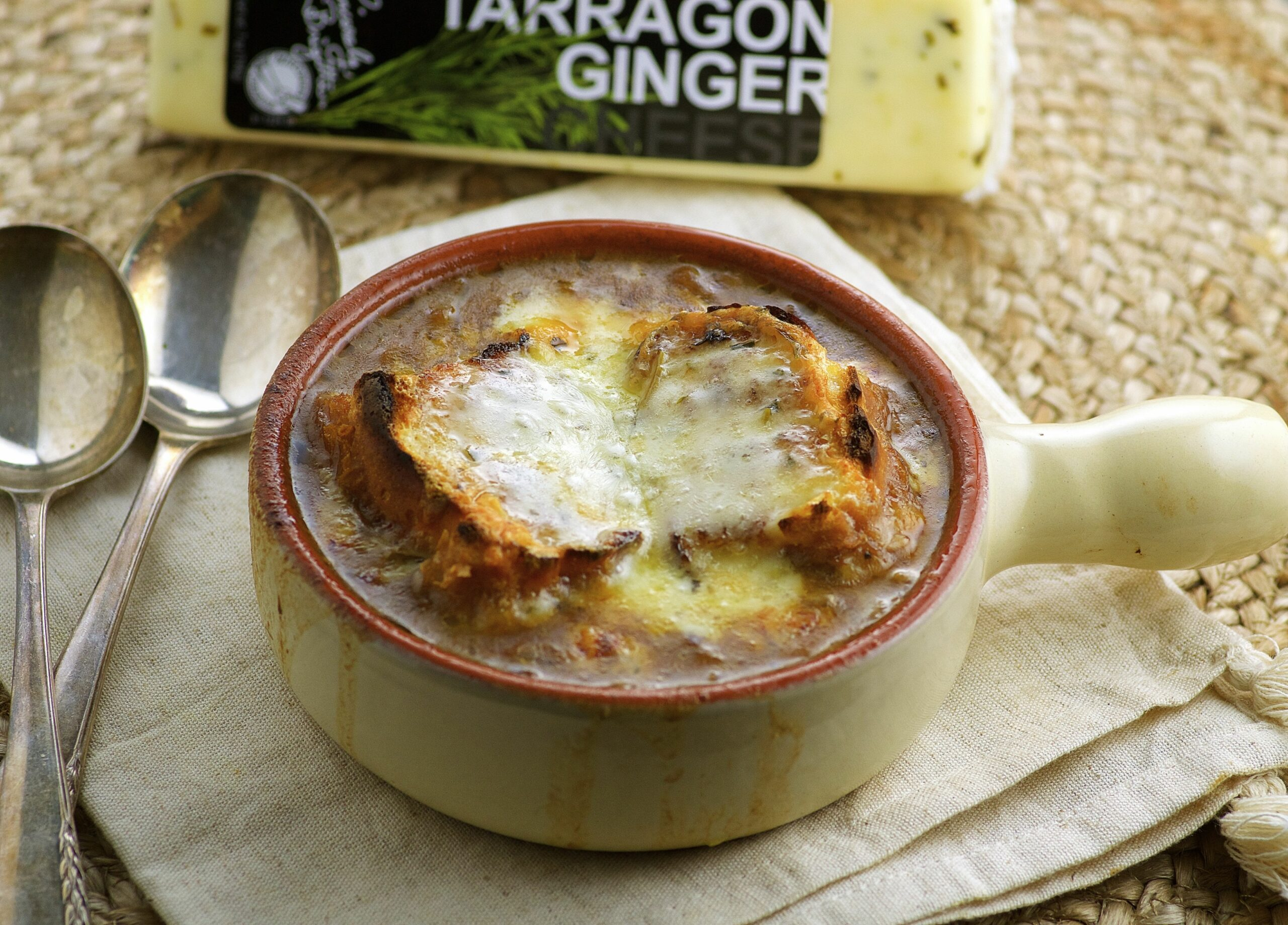Vegetarian French Onion Soup - May I Have That Recipe - Recipe Vegetarian French Onion Soup