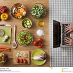 Vegetarian Healthy Food Online Recipes Stock Image – Image Of ..