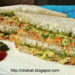 Veggie Creamy Sandwich | चकली – Sandwich Recipes In Marathi
