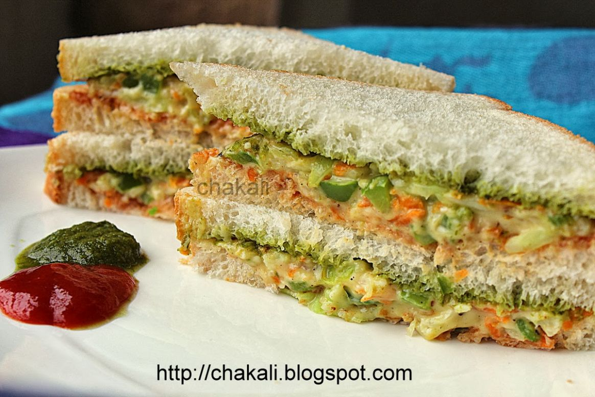 Veggie Creamy Sandwich | चकली - Sandwich Recipes In Marathi