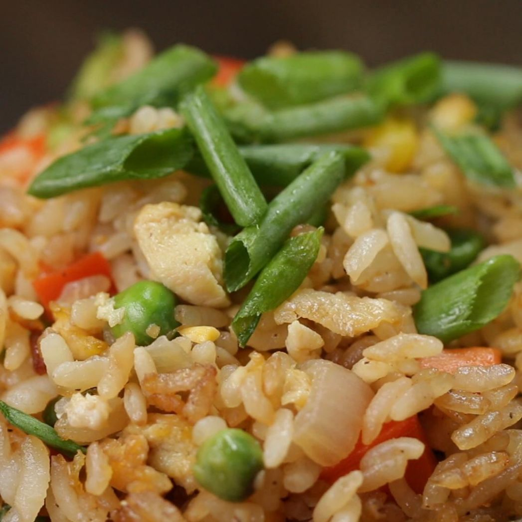 Veggie Fried Rice Recipe by Tasty - Rice Recipes Veg