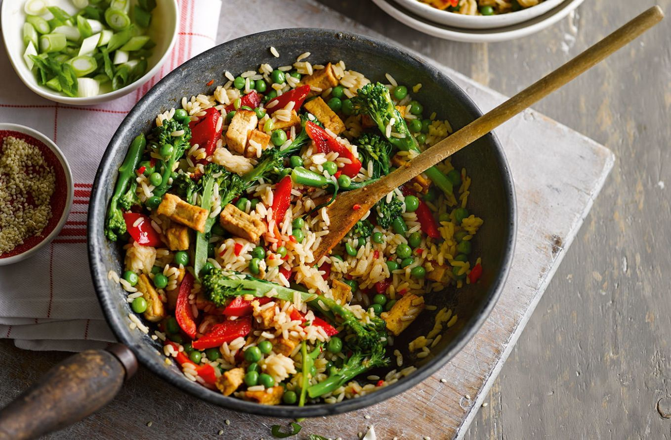Veggie rice bowl - Recipes Of Vegetable Dishes