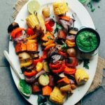 Veggie Skewers With Chimichurri Sauce – Recipe Vegetarian Kebabs