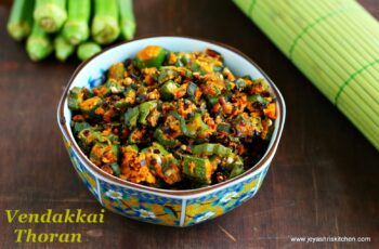 Vendakkai Thoran recipe by Jeyashri's Kitchen