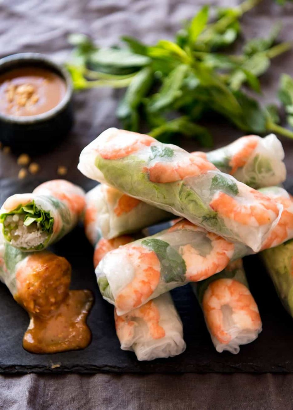 Vietnamese Rice Paper Rolls | RecipeTin Eats - Recipes Rice Wraps