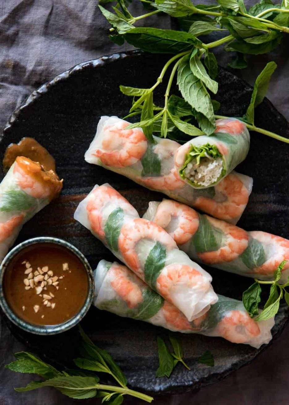 Vietnamese Rice Paper Rolls (Spring Rolls) - Recipes Rice Wraps