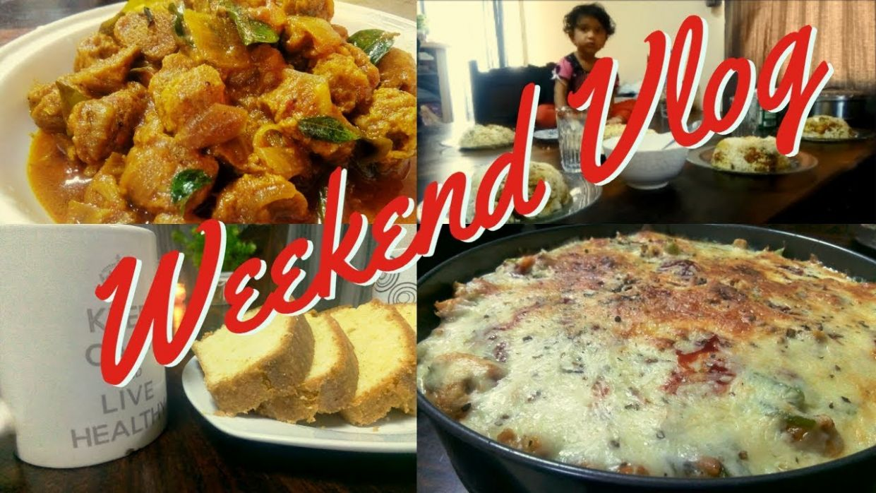 Weekend Vlog / Italian Baked Pasta/Soya Chunks Curry/Perfect Ghee ..