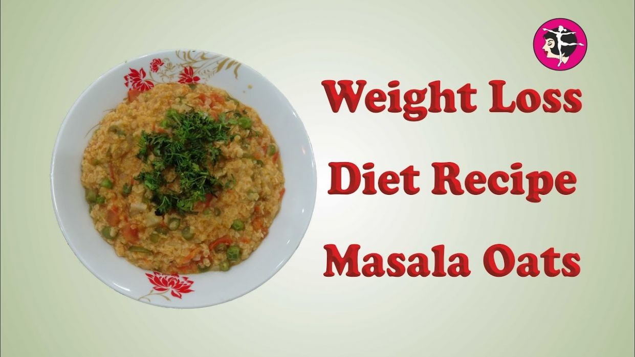 Weight Loss Diet Recipe - Masala Oats - Hindi - Good Food Cooking Blog - Oats Recipes For Weight Loss In Hindi