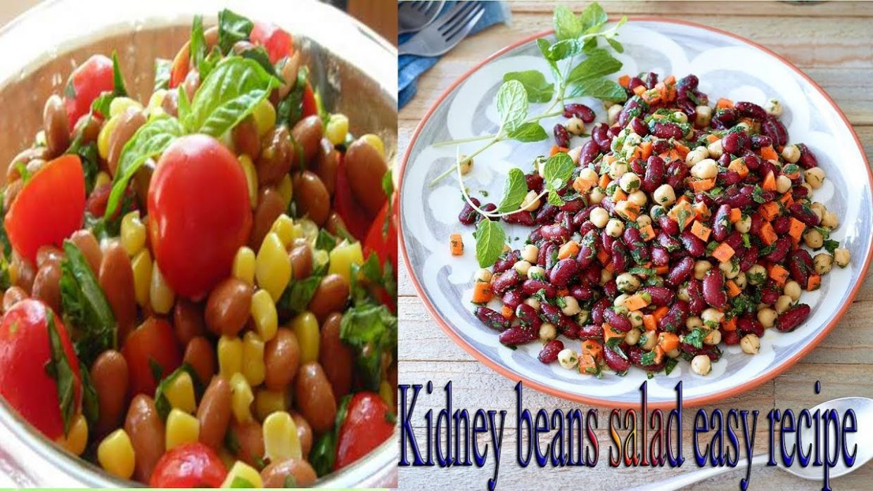 Weight Loss Salad Recipe For Dinner - How To Lose Weight Fast With  Salad-Indian kidney beans salad - Recipes For Weight Loss Fast