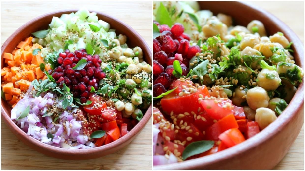 Weight Loss Salad Recipe For Dinner - How To Lose Weight Fast With Salad -  Indian Veg Meal/Diet Plan - Salad Recipes Vegetarian Indian For Weight Loss