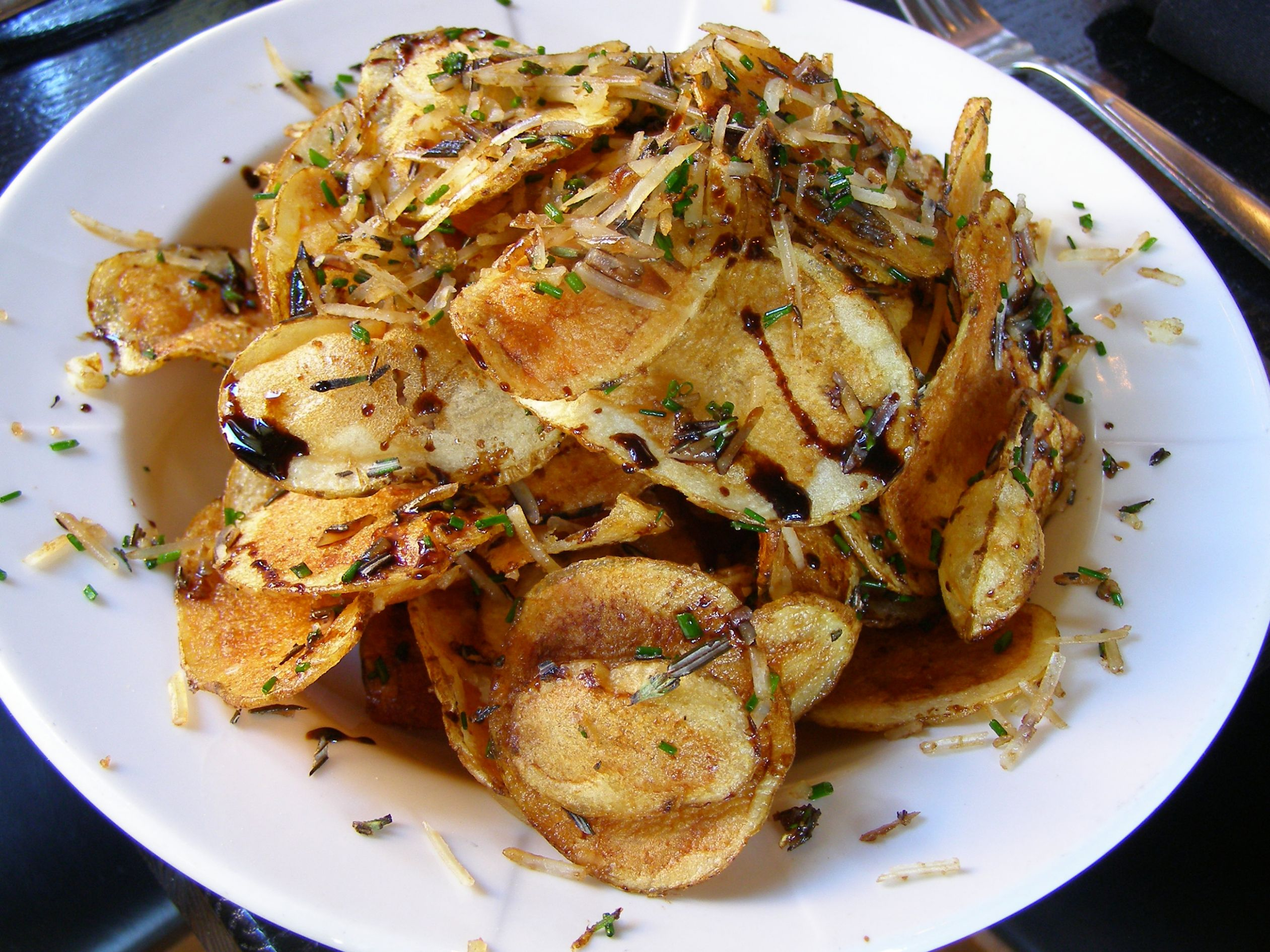 West Town Tavern Potato Chips with Parmesan, Rosemary, Balsamic Syrup and  White Truffle Oil - Recipes Using Potato Chips