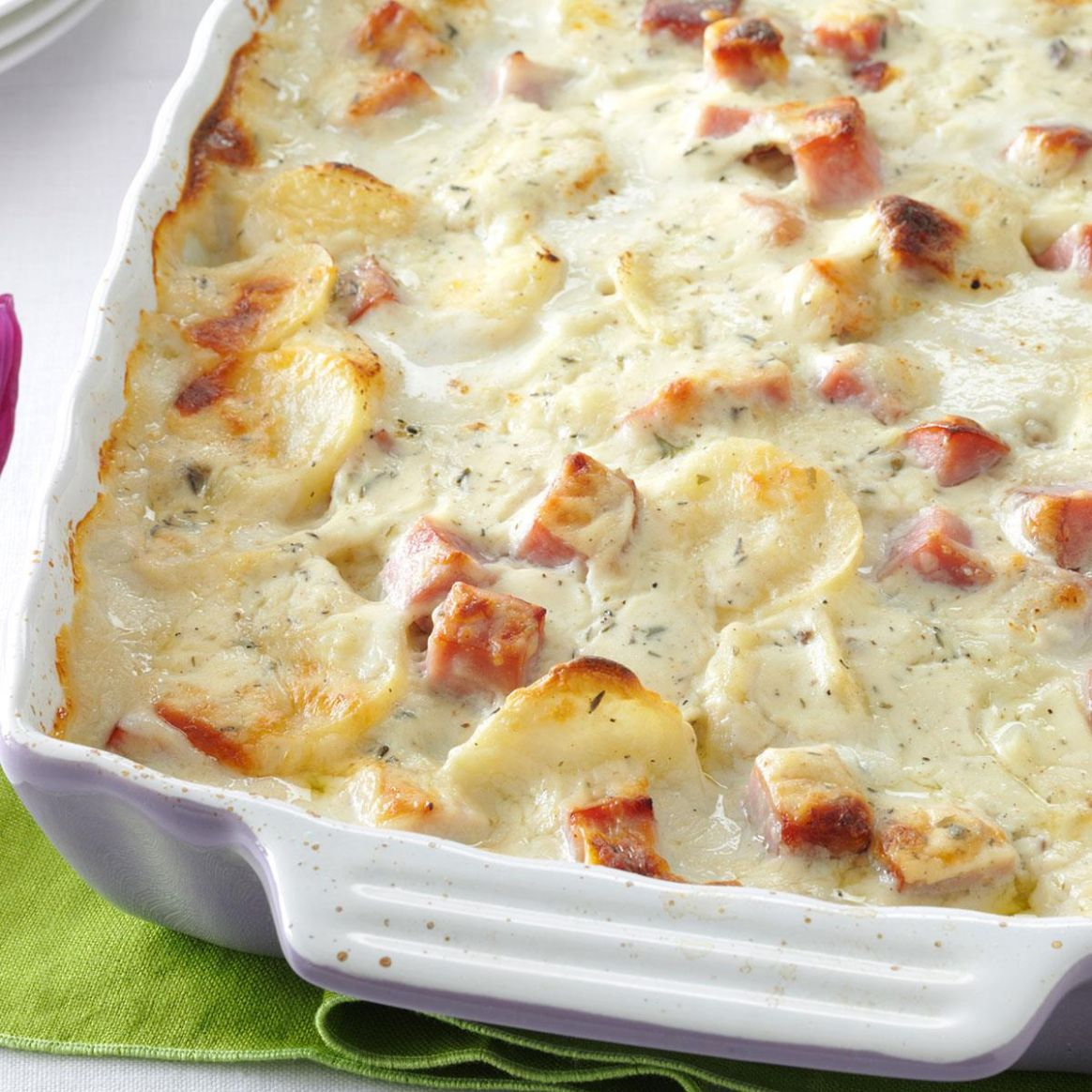 White Cheddar Scalloped Potatoes - Potato Recipes Easter