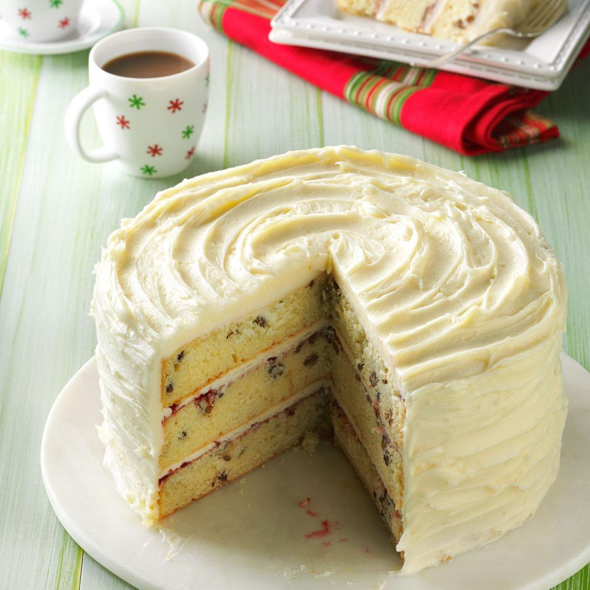 White Chocolate Christmas Torte - Recipes Cakes For Christmas