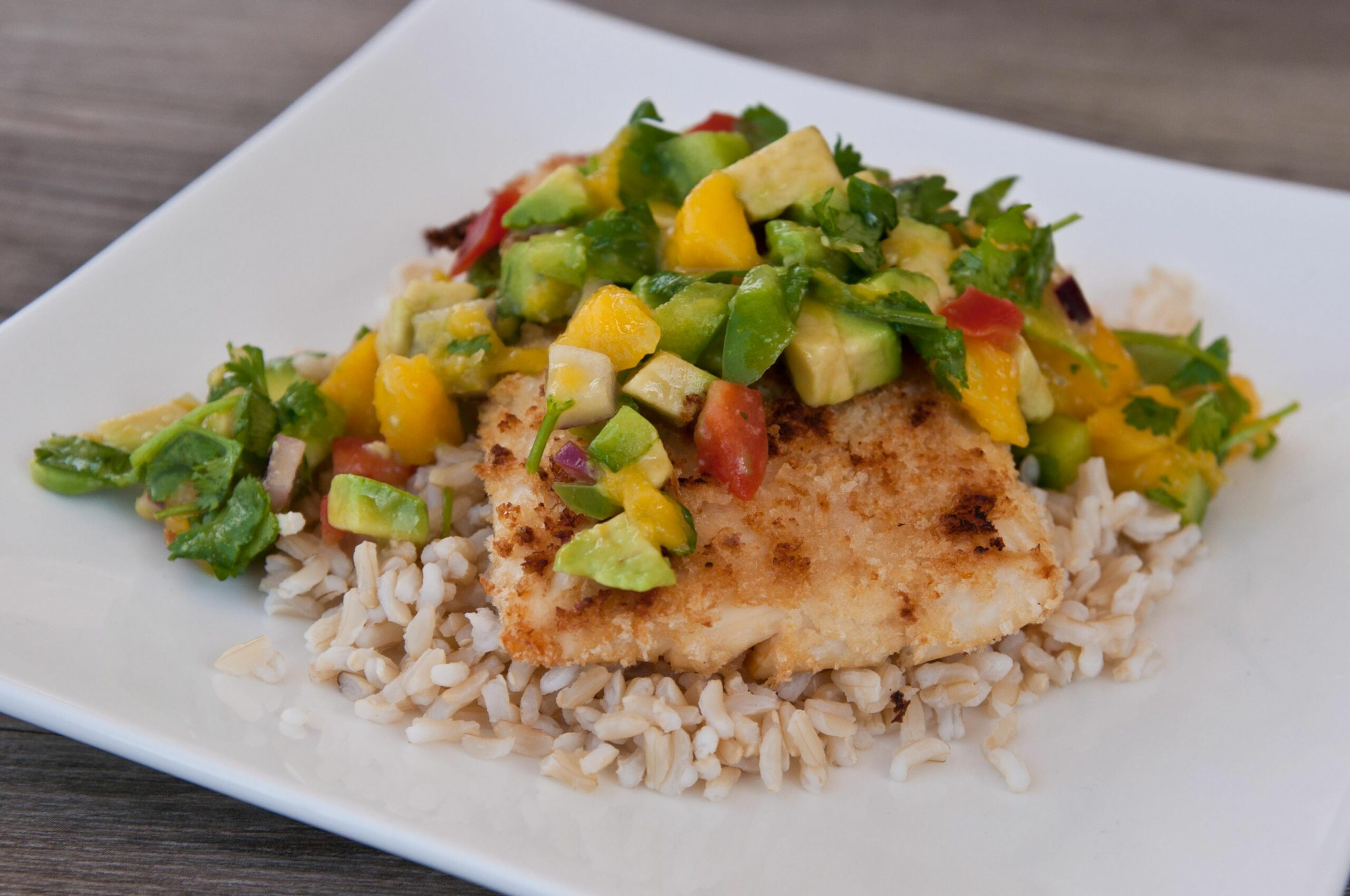 White Fish with Avocado Mango Salsa - Recipe Fish With Mango Salsa
