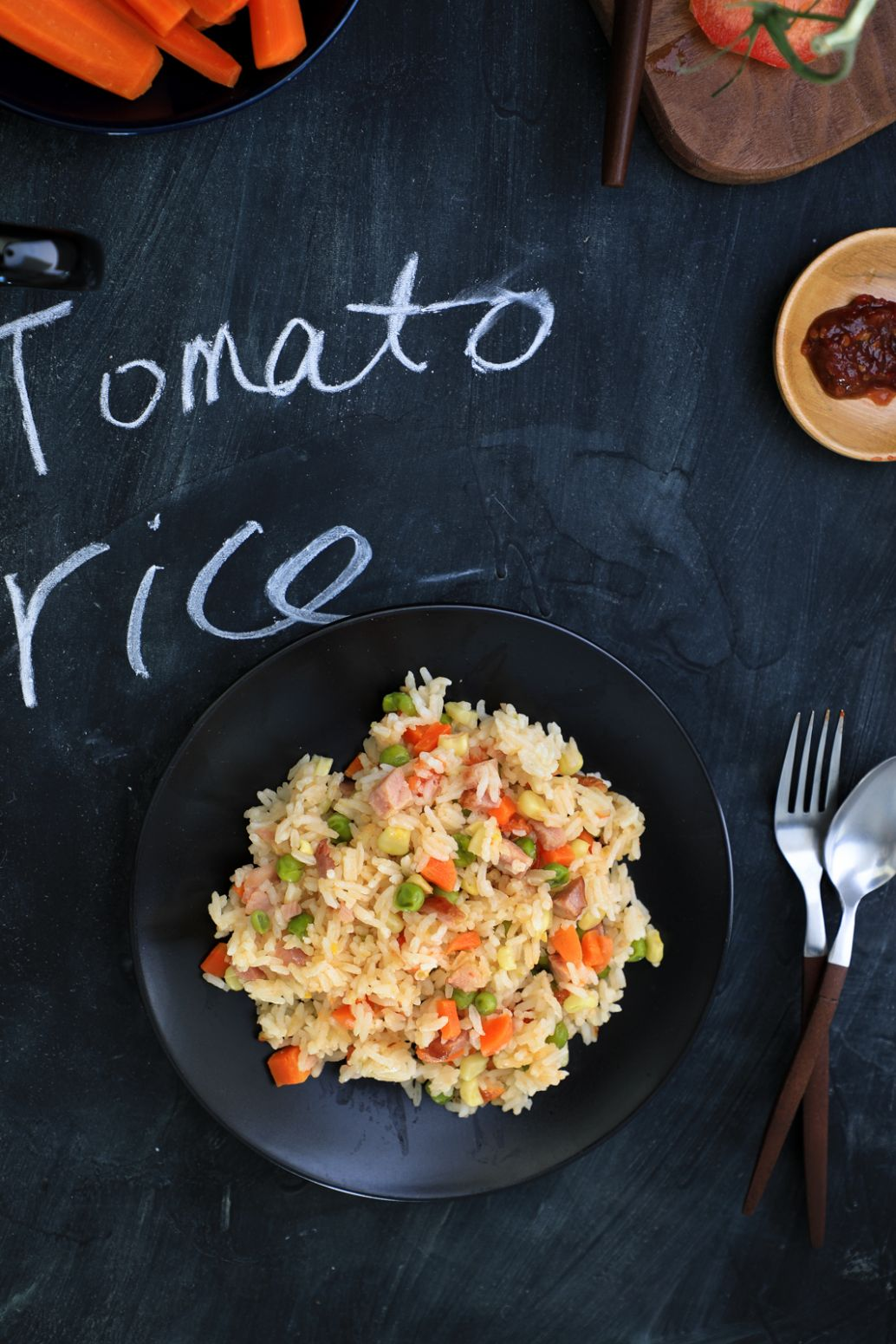 Whole tomato rice - Recipes Rice Cooker Meals