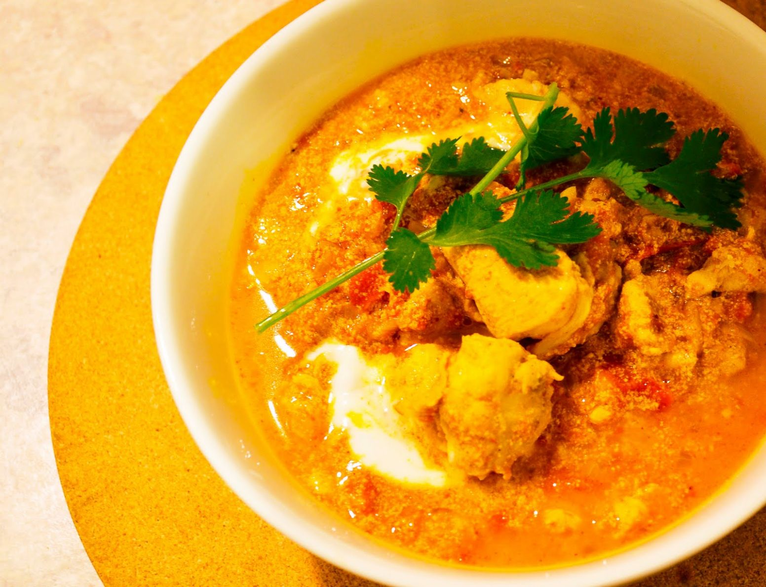 Yogurt-based Chicken Curry - Recipe Chicken Yogurt Curry