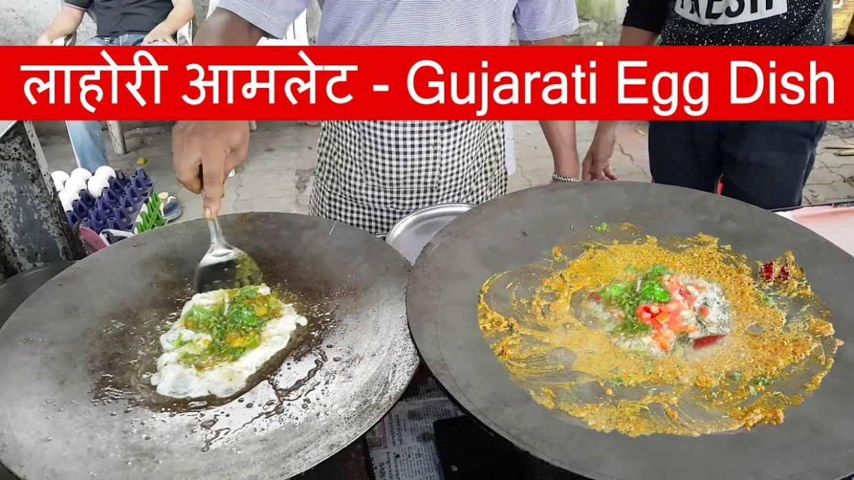Yummy ! लाहोरी आमलेट - Omelette Lahori with Cheese | Egg Recipes  Surat-Gujarat | Indian Street Food - Egg Recipes Gujarati